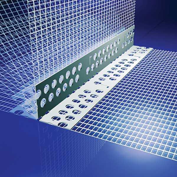 LB-Knauf Sarokvédő PVC szegély hálóval - 50 x 2,5 fm
